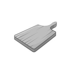 Cutting board icon black monochrome style vector image vector image