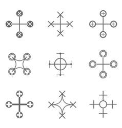 Drone icon set vector image