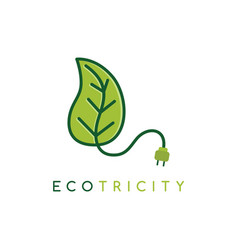 Eco energy symbol icon logo logotype template - vector