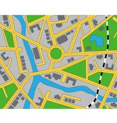 editable map of the area vector image vector image
