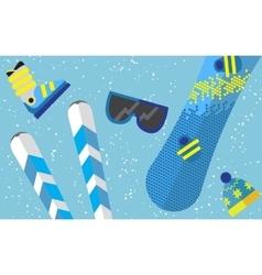 Flat design winter sport concept Sports equipment vector image