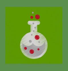 Flat shading style icon halloween potion bottle vector