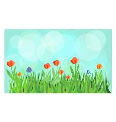 Flowering meadow vector image vector image