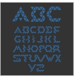 Font from triangles - set vector