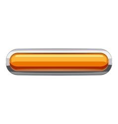 Gold rectangular button icon cartoon style vector