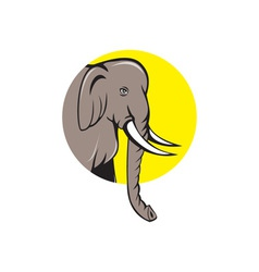 Indian elephant head cartoon vector
