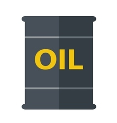 Oil black barrel vector