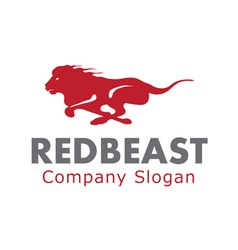 Red beast design vector