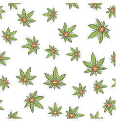 seamless texture medical marijuana three vector image vector image