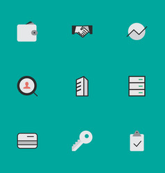 Set of simple trade icons elements done opening vector