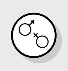 Sex symbol sign flat black icon in white vector