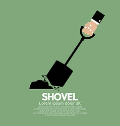 Shovel in hand vector