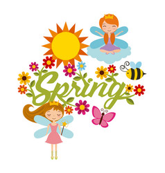 Spring season design vector