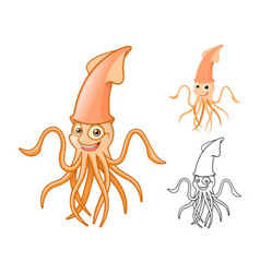 Squid vector image