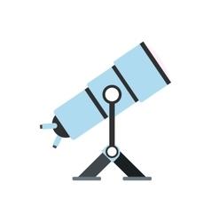 Telescope flat icon vector