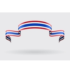 Thai flag background vector image vector image