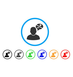 User arguments rounded icon vector