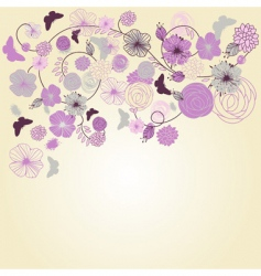 Vector abstract floral background vector