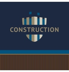 Logo and identification of a construction company vector
