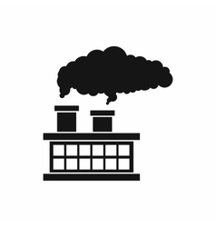 Plant pipe with smoke icon simple style vector