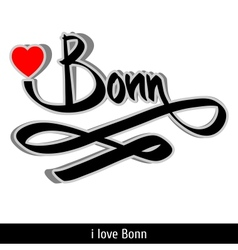 Bonn greetings hand lettering calligraphy vector