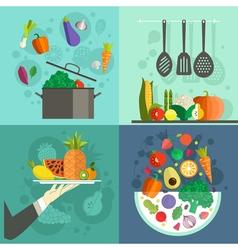 Healthy food banners vector