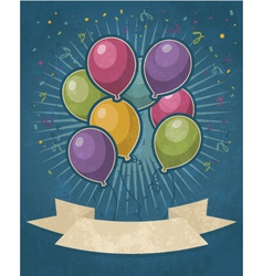 Retro party balloons vector