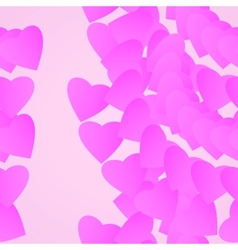Valentines day background pink hearts vector