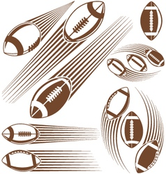 Symbolic american football ball vector image
