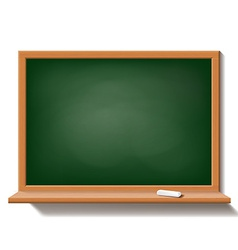 Green school board isolated on white background vector