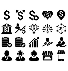 Trade business and bank service icon set vector