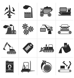 Black different kind of business and industry icon vector
