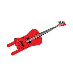 Guitar for rock musician electric guitar in form vector
