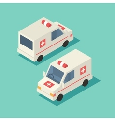 Isometric emergency car icon vector