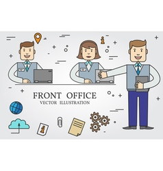 Front office thin line icon vector