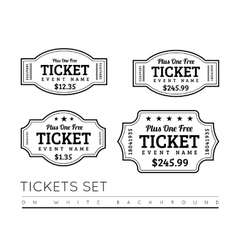 Vintage ticket icon vector