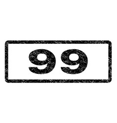 99 watermark stamp vector