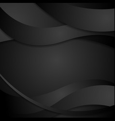 Abstract black waves background vector image vector image