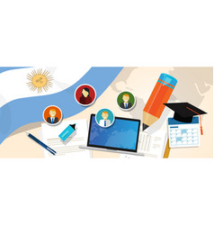 argentina education school university concept with vector image vector image