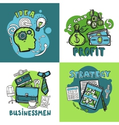 Business Design Concept vector image vector image
