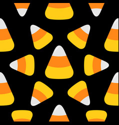 candy corn happy halloween seamless pattern vector image