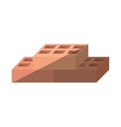Cartoon blocks brick construction tool vector