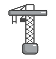 construction crane icon cartoon style vector image