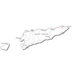 East Timor Black White Map vector image