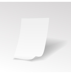 Empty paper sheet with curl vector
