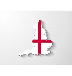 England map with shadow effect vector