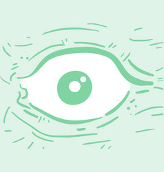 green eye vector image vector image