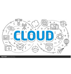 cloud template with lines - i love you linear royalty free vector image vectorstock