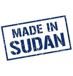 Made in sudan stamp vector