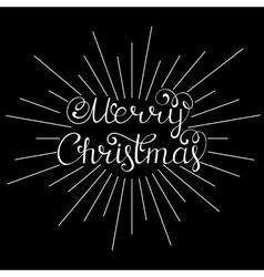 Merry christmas inscription vector